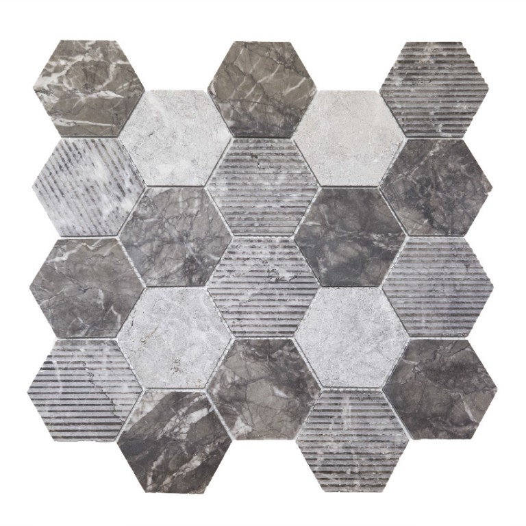 Tarmak-Usa-Stone-Collection-Bilbao-Bardiglio-3-Hex-Honeycomb