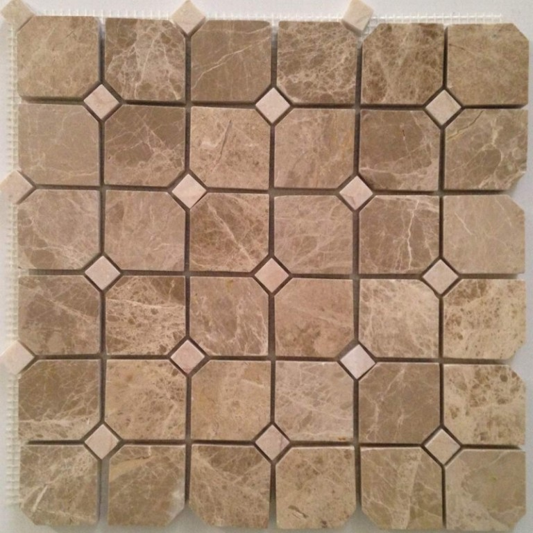 Tarmak-Usa-Stone-Mosaics-Emperador-Hex-With-C.-Nouva-Dot