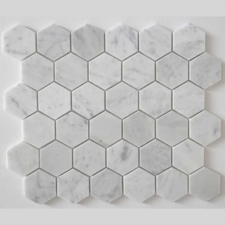 Tarmak-Usa-Stone-Mosaics-Bianco-Carrara-Honeycomb-Hex-Polished-2x2