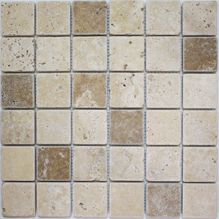 Tarmak-Usa-Stone-Mosaics-Ivory,-Walnut-&-Gold-Mix