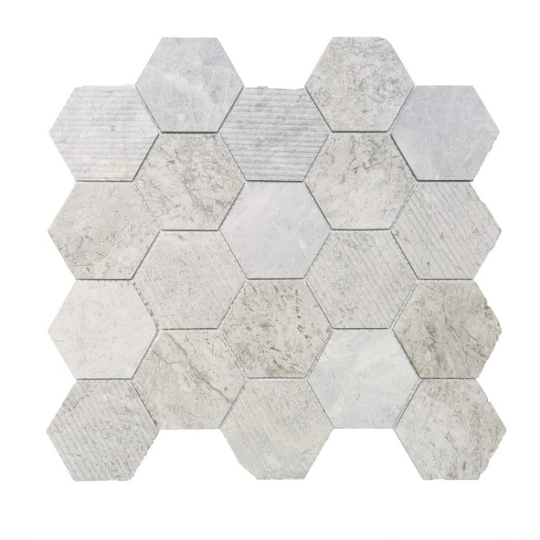 Tarmak-Usa-Stone-Collection-Bilbao-Silver-Shadow-3-Hex-Honeycomb