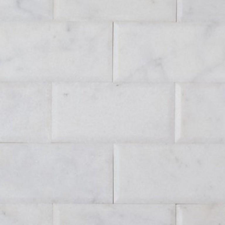 Tarmak-Usa-Stone-Marble-Milas-White-Deep-Bevel