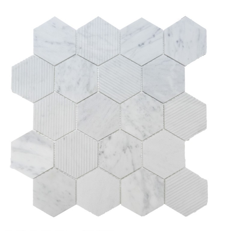 Tarmak-Usa-Stone-Collection-Bilbao-Bianco-Carrara-3-Hex-Honeycomb