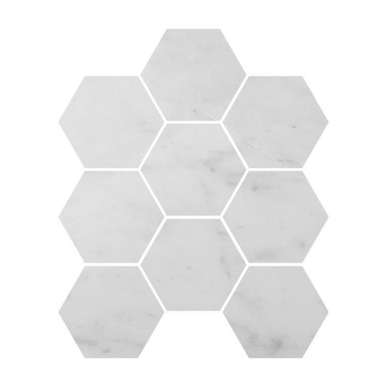 Tarmak-Usa-Stone-Mosaics-Milas-White-4inch-Honeycomb