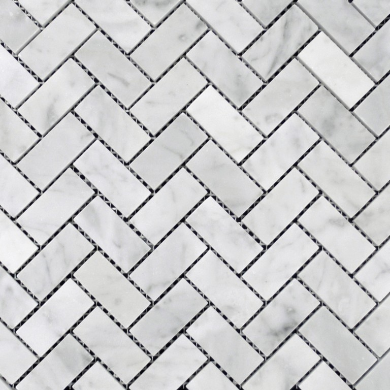 Tarmak-Usa-Stone-Mosaics-Bianco-Carrara-Herringbone-Polished-1x2