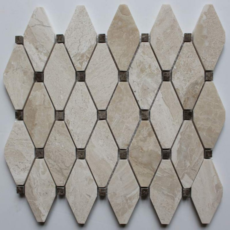Tarmak-Usa-Stone-Mosaics-Clipped-Diamond-Karya-Royal-With-Emperador-Dot