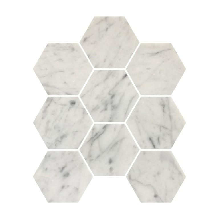 Tarmak-Usa-Stone-Mosaics-Bianco-Carrara-4inch-Honeycomb