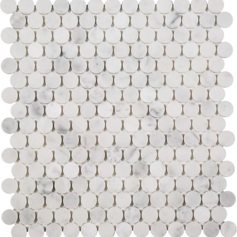 Tarmak-Usa-Stone-Mosaics-Penny-Rounds-Bianco-Carrara