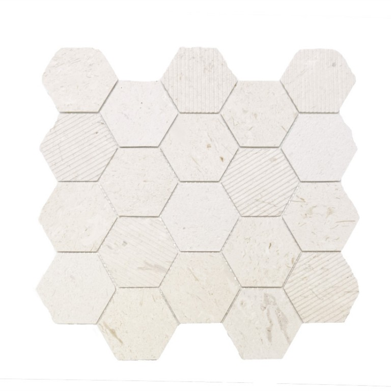 Tarmak-Usa-Stone-Collection-Bilbao-Corinthian-Fossil-3-Hex-Honeycomb