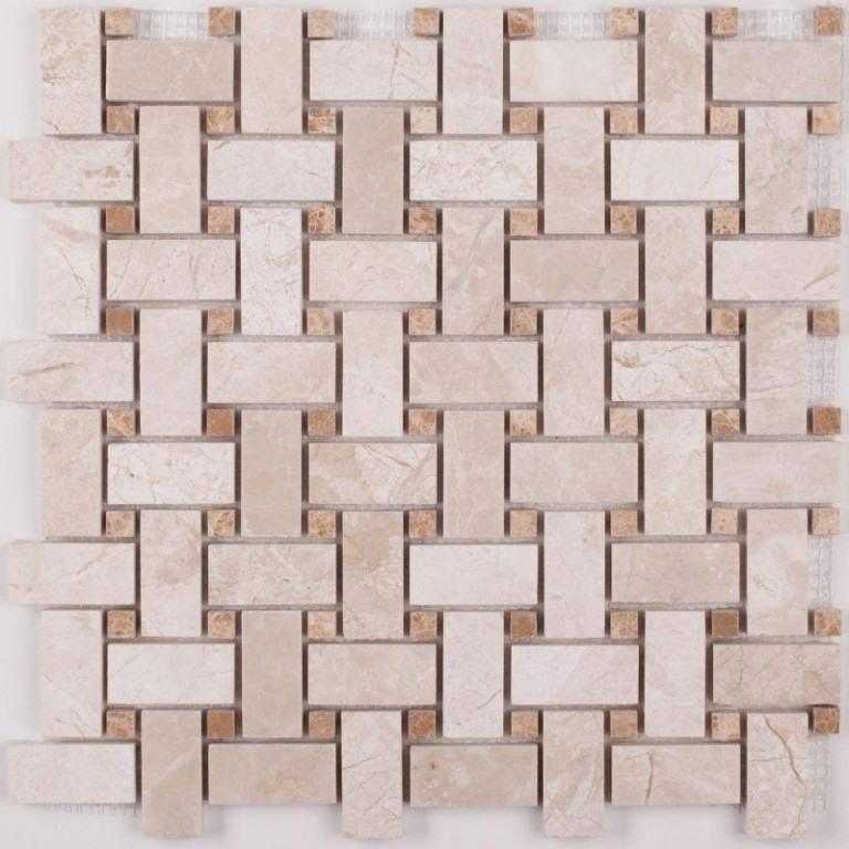 Tarmak-Usa-Stone-Mosaics-Karya-Royal-Basket-Weave-With-Emperador-Dot
